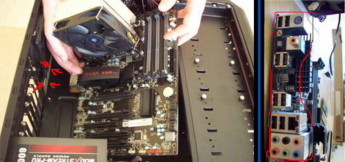 motherboard into case